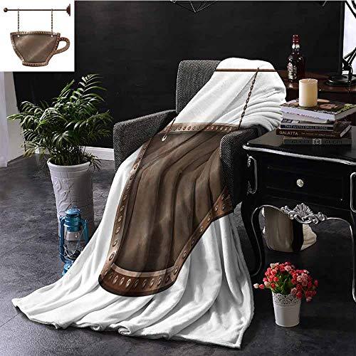 GGACEN Digitale Drukdeken Handgetekende Cartoon Koffie Tijd Thema Snoepjes en Drankjes Siersymbolen Kampeerdeken - het gooien van een deken