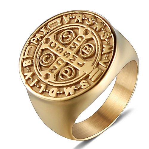 Best st benedict ring men gold for 2020