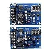 Gracy Carga de la batería del módulo de conmutador Junta XH-M603 12-24 Control de Voltaje de Carga Protección de Pantalla 2 Piezas, Componentes