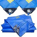 Akuoly Lona Impermeable Exterior 2,8m x 2,8m Lona de protección para Muebles de jardín, Piscina, Coche, 150g /m² Lona Impermeable y Resistente