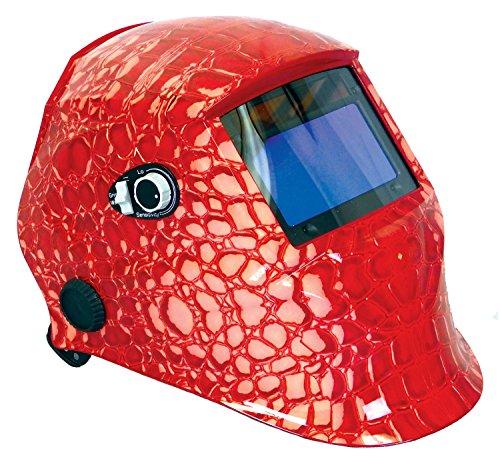 Nesco 4661 Red Alligator Auto Darkening Solar Powered Welding Helmet