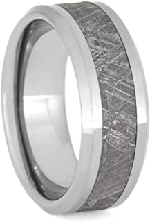 Jewelry By Johan Tungsten Men's Wedding Band with Gibeon Meteorite