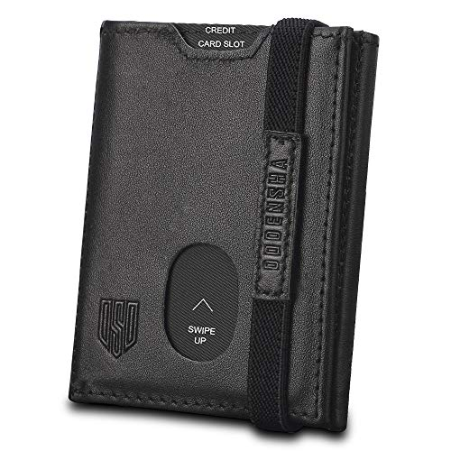 Mens Wallet, Slim Wallet, RFID Blocking Leather Wallet, Trifold Personalised Wallets for...