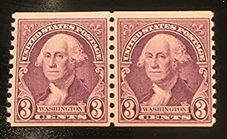United States Collectible Stamps - Scott 721 3c George Washington Coil Pair - Mint Never Hinged - 1930's