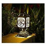 Lámpara de Jardín Luz Del Pilar Luces De Poste Solares LED Jardín Al Aire Libre Impermeable Cuadrado Negro Lámpara De Tapa De Poste De Paisaje Para Postes De Madera,Cubierta, Patio (Color : B)