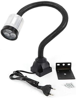 LED luz flexible de trabajo 6W 110-220V L/ámpara con base circular magn/ética para Torno CNC