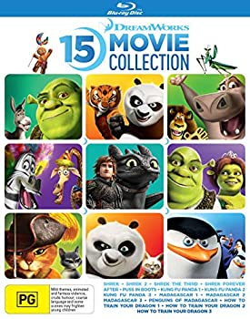 How To Train Your Dragon 1-3 / Shrek 1-4 / Puss in Boots / Kung Fu Panda 1-3 / Madagascar 1-3 / Penguins of Madagascar  Ultimate 15 Film Collection