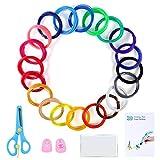 Filamento PLA para Lápiz 3D, 3D Pluma Filamento 20 Colores 1.75MM PLA, Total 330 Pies Filamento PLA for 3D Printer