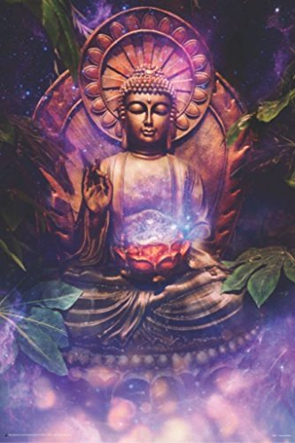 Blackball Tranquil Buddha Art Print Poster 24x36