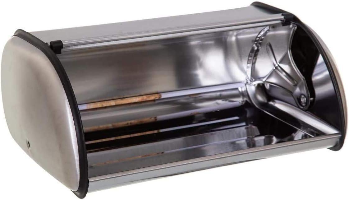L 35,5 x P 15 cm Fabricado en Acero Inox con F/ácil Apertura TIENDA EURASIA/® Panera con Dise/ño Vintage 23 x H Negro