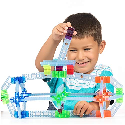 Brackitz Inventor STEM Discovery Building Toy for Kids Ages 3, 4, 5, 6+ Year Olds | Best Boys & Girls Educational Engineering Construction Kits | Creative Fun Learning Toys for Children | 100 Pc Set