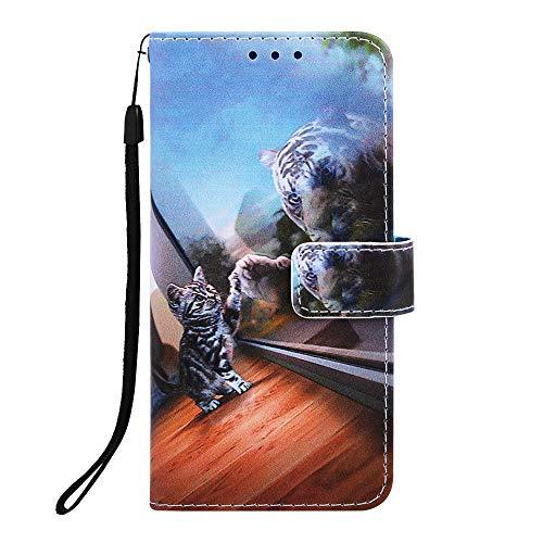 Bumina Lederhülle für Samsung Galaxy A21S Hülle Leder Handyhülle Flip Case PU Tasche Wallet Schutzhülle Bookstyle Ständer Kartensätze Magnetisch Handytasche für Samsung Galaxy A21S Handy Hülle