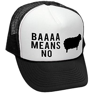 The Goozler BAAAAAA Means No Sheep Parody Joke Gag - Adult Trucker Cap Hat