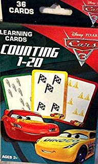 Bendon Cars 3 Counting 1-20 Learning Flash Cards