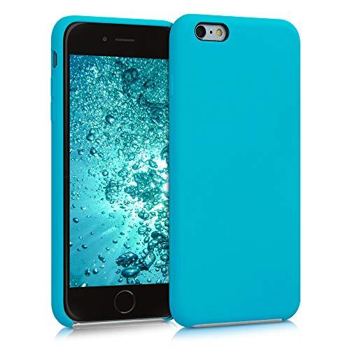 kwmobile Cover Compatibile con Apple iPhone 6 Plus   6S Plus - Cover Custodia in Silicone TPU - Back Case Protezione Cellulare Azzurro Mare