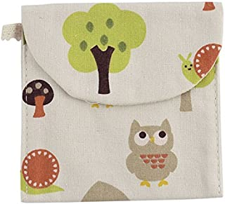 eDealMax Forma Lino Plaza Caracol árbol Owl Patrón de toallas de la servilleta sanitaria del bolso