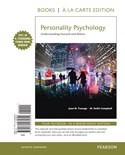 Personality Psychology: Understanding Yourself and Others -- Books a la Carte