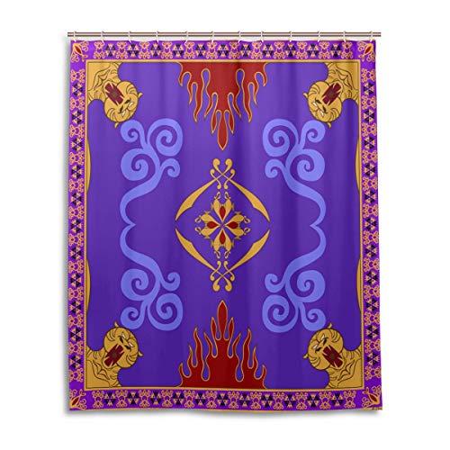 DearLord Aladdin's Magic - Cortina de ducha con 12 ganchos, 182,88 x 182,88 cm