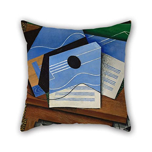 Oil Painting Juan Gris - Guitar On A Table Pillowcase Best For Pub Gf Gril Friend Home Theater Dinning Room 16 X 16 Inches / 40 By 40 Cm(twice Sides)