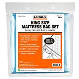 U-Haul Deluxe King Mattress and Box Spring Bag Set – Moving and Storage Protection Cover – 2.25 Mil – Includes 1 Mattress Bag, 2 Box Spring Bags