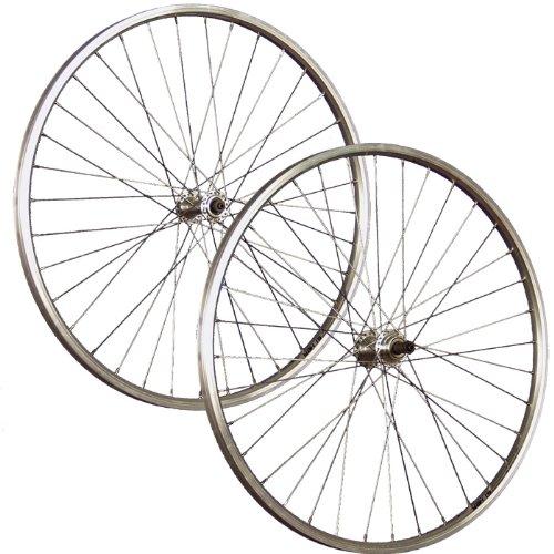 Taylor-Wheels 26 Zoll Laufradsatz Hohlkammerfelge für Schraubkranz - Silber