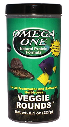 Omega One Veggie Rounds, 14mm Rounds, Sinking, 8 Oz Container