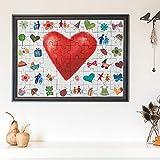 Casa Vivente Puzzle zum Bemalen zur Hochzeit, Hochzeitspuzzle zum Aufhängen mit 48 Teilen, Deko und...