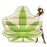 Sol Coastal Jumbo Devil's Lettuce Pool Float | Giant Inflatable Party Raft | 5 Feet Wide PVC Floatie Inner Tube for Adult Summer Fun, Beach Vacation, Pool Parties, and Backyard Relaxation