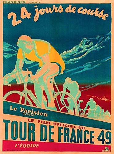 ABLERTRADE Aabletrade Metallschild 20,3 x 30,5 cm 1949 Tour de France Fahrrad Race Paris Frankreich Vintage Travel Art Print Metall Poster Wall Plaue Decor Sign