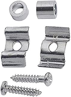 Greenten Guitar String Tree Guide Retainer Body Custom, 2 Sets (Chrome)