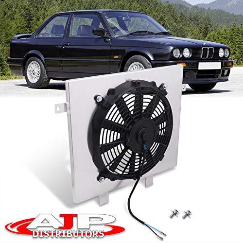 "AJP Distributors Replacement Upgrade Manual MT Transmission Aluminum Radiator 11"" Fan Shroud Cover Set Kit Cooling System For BMW E30 318 325 328 3-Series 1987 1988 1989 1990 1991 87 88 89 90 91"