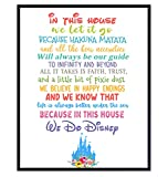Disney Quotes - Disney Wall Art - Disney Wall Decor - Hakuna Matata - Disney - Inspirational Gifts for Women - Mickey Mouse, Walt Disney World, Disneyland, Toy Story, Lion King, Frozen, Jungle Book