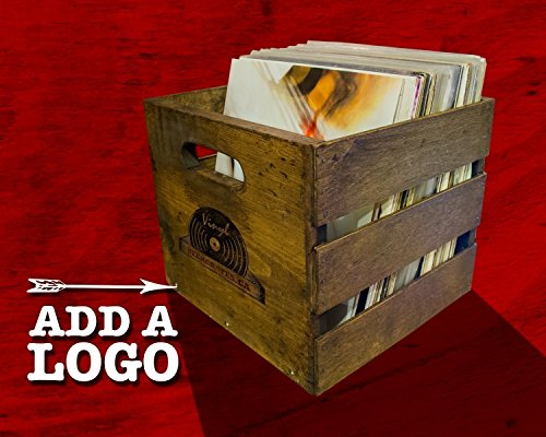 Stackable Vintage Record Crate - Holds 70 LP's.