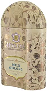 Hyleys Traveller's Collection Milk Oolong Chinese Medium Leaf Tea in Tin, 3.52 Ounce (100g) - (100% Natural, Sugar Free, G...
