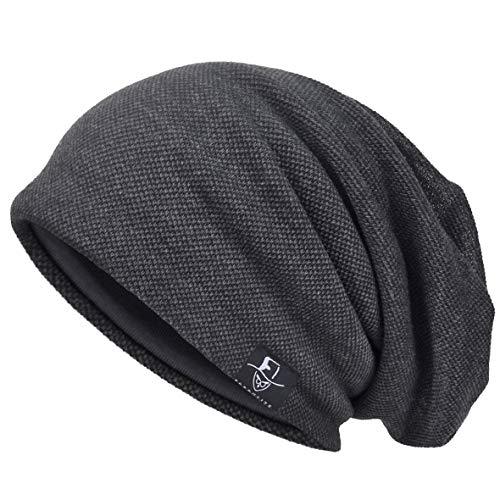 VECRY Herren Cool Slouch Mütze Dünne Sommer Schädel Hip-Hop Hüte , M, 301-Grau