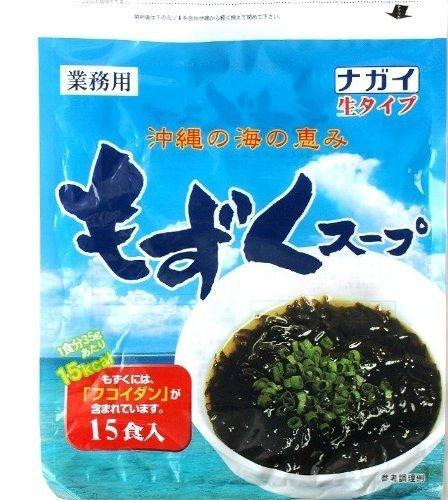 ナガイ 沖縄の海の恵み もずくスープ 35g 15食入×12パック 生タイプ 業務用