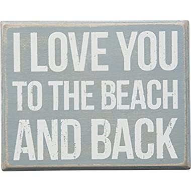 Primitives by Kathy I Love You to The Beach and Back Box Sign