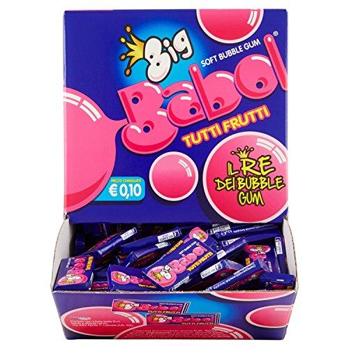 Big Babol Tutti Frutti Gomma da Masticare Morbida, Gusto Tutti Frutti, Confezione da 200 Gomme da Masticare, Monopezzo