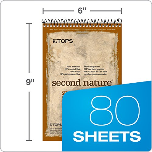 """TOPS Second Nature Steno Books, 6"""" x 9"""", Gregg Rule, 80 Sheets, 12 Pack (74688) Photo #4"""