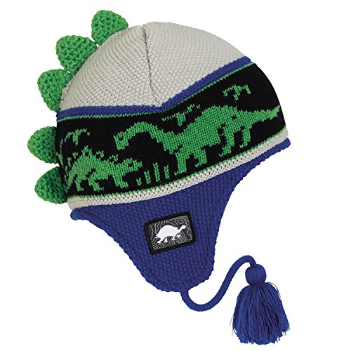 Turtle Fur Kids Dr. Dino Dinosaur Fleece Lined Winter Hat Blue