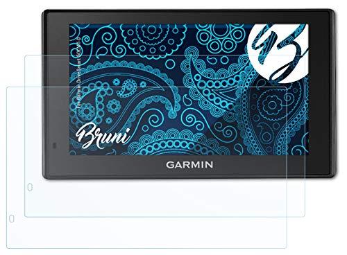 Bruni Película Protectora Compatible con Garmin DriveSmart 50LMT-D Protector Película, Claro Lámina Protectora (2X)
