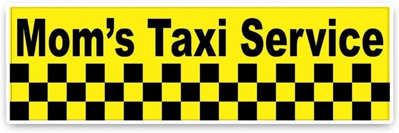 SCSHY Engomada del Coche 15,5 * 4,6 Cm Mom 'S Taxi Serivce Divertidas Letras Retro Reflectantes Calcomanías Adhesivas para Coche con Estilo