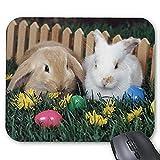 Yanteng Alfombrilla de ráton del Juego Alfombrilla de Raton Conejo Precioso Mousepad Serie Bunny Have a Date Alfombrilla De Ratón Bunny Rabbit Alfombrilla De Ratón Rectangle Alfombrillas De Raton