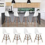 IDMarket - Lot de 4 Tabourets de Bar Design scandinave Blanc