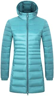 CWSY Women's Hooded Packable Ultra Light Weight Long Down Jacket
