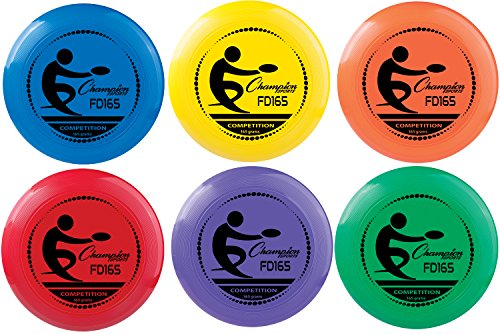 Champion Sports Compeition Flying Disc  Single Assorted Color 11 Inch 165 Grams