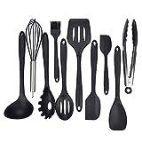 hollylife 10 Pcs Silicone Set Ustensiles de Cuisine Kit d'Accessoires