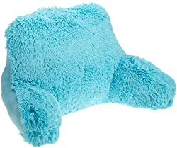 bright color light blue faux fur reading pillow for young boys and kids Brentwood originals shagalicious