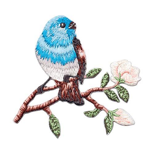 SuperiorParts Parches termoadhesivos Birdie 2 unidades, parches bordados, parches bordados, apliques para...