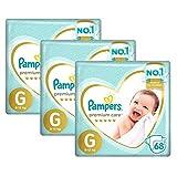 Kit Fralda Pampers Premium Care Jumbo Tamanho G 204 Unidades